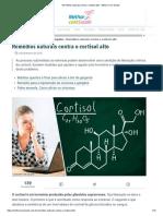 Remédios Naturais Contra o Cortisol Alto - Melhor Com Saúde