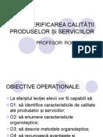 Verificarea Calității Produselor Și Serviciilor