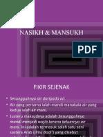 NASIKH & MANSUKH