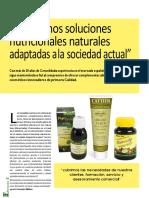 Las ventajas terapeúticas de los productos naturales, por Fernando Molinas