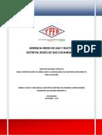 Especificaciones Tecnicas Red Secundaria Obras Civiles y Mecánicas Construcción Red Secundaria