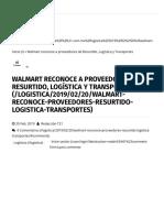 21-02-19 -Walmart reconoce a proveedores de Resurtido, Logística y Transportes _ T21