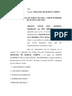 Demanda habeas corpus