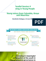 Investing in meaningful participation of the youth in natural resource governance to sustain peace
