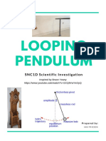 looping pendulum inquiry assignment
