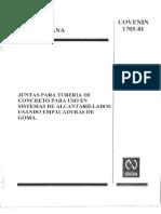 1705-81 Juntas Para Tuberia de Concreto