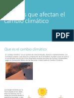 Factores Que Afectan El Cambio Climático