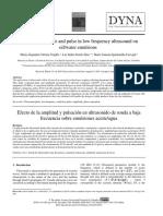 Efecto de La Amplitud y Pulsacion en Ultrasonido de Sonda a Baja Frecuencia Sobre Emulsiones Aceite Agua