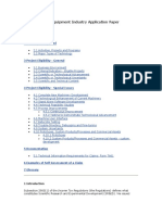 Machinery and Equipment Industry Application Paper