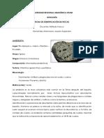 Fichas de Rocas - Reconocimiento - Hernández_Josselin