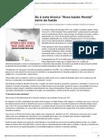 CFP contra a Nota Técnica  n° 11/2019.