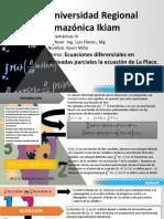 Ecuaciones diferenciales en derivadas parciales la ecuación de La Place