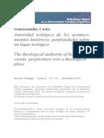 Autoridad teológica de los acontecimientos históricos