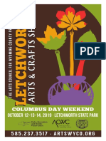 2019 Letchworth Arts and Crafts Show Application