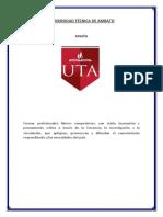 Mision y Vision UTA,FCS,P.cl.