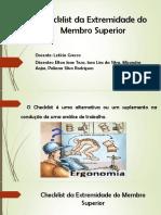 Checklist Da Extremidade Do Membro Superior