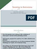 Urban Planning in Botswana