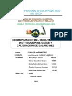 Calibracion de Balancines ..