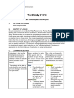 word study lp observed 9 10 18
