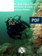 Scottish Sub-Aqua Club Sport Diver Award Lecture Notes