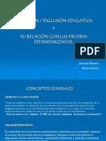 Trabajo Sobre Inclusion Educativa y Pruebas de Rendimiento Escolar