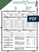 Moradores Del Cristal Ficha // Character Sheet Glasswalker