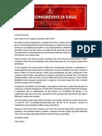 Informações Relevantes XVII Congresso JS FAUL
