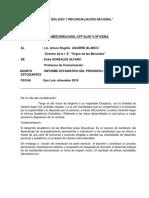 Informe sobre la anemia en los niños andinos