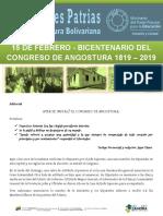 Efemerides Patrias Congreso de Angostura