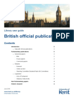 British Official Publications