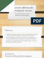 Presentacion Ecuaion Homogenea Exacta