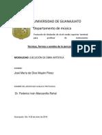 protocolo para titulacion en percusiones de nivel medio terminal