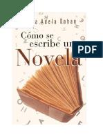 Kohan Silvia Adela - Como Se Escribe Una Novela