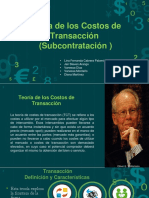 Teoría costos de Transacción