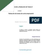 U3_Redaccion de Textos de Corte Empresarial