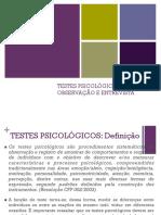 Testes Psicologicos, Entrevista, Observacao