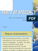 A Parts of Speech Review