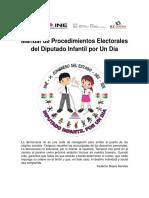 Manual de Procedimientos Diputado Infantil