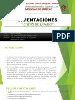 Cimentaciones, Diseño de Zapata