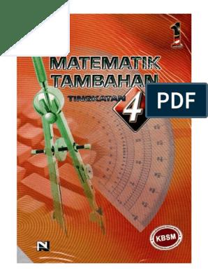 Buku Teks Add Math Form 4 Pdf