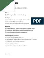 C1 C2 Verhandlung Argumentation Protokoll Redemittel