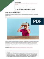 Como Levar a Realidade Virtual Para Suas Aulaspdf