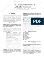 Informe de Laboratorio Electrónica II