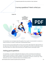 How Do I Ask Good Survey Questions? Here's What You Need to Know