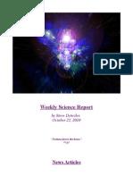 Weekly Science Report - October 22, 2010 by Steve Detwiler
