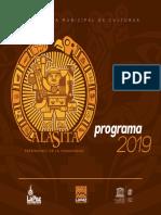 Programa alasita 2019