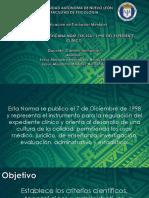 Norma Oficial Mexicana Del Expediente Clínico