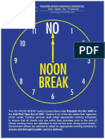 NO NOON BREAK