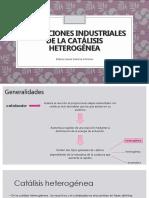 aplicaciones industriales de la catalisis heterogénea