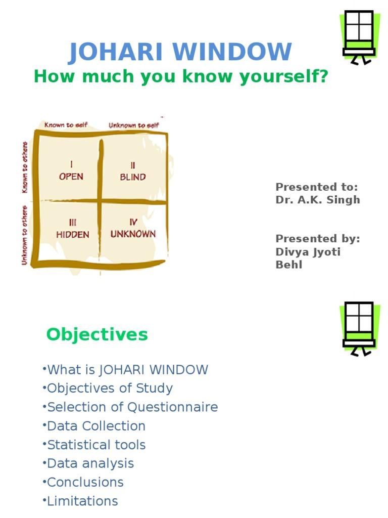 johari window self assessment